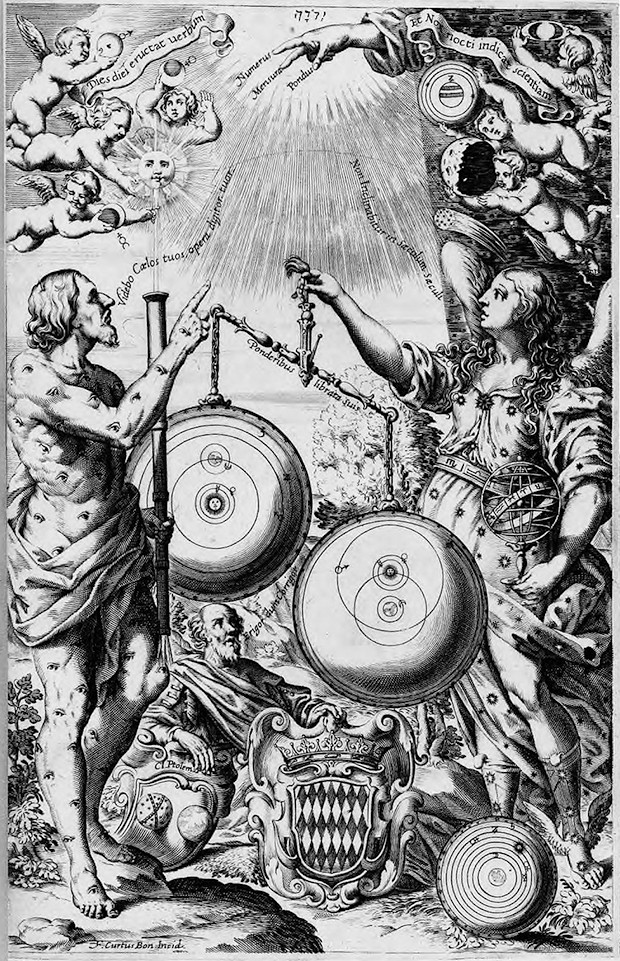 Fronstispice de l'Almagestum novum de Riccioli