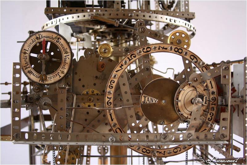 Calendrier de l'horloge astronomique de Reims