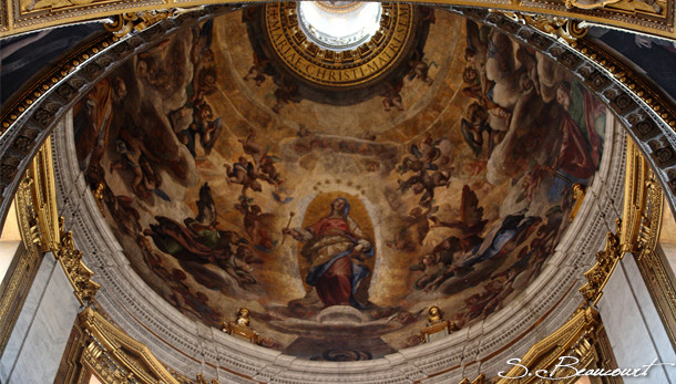 L'Immaculée Conception peinte par le Cigoli sur la coupole de la chapelle Pauline