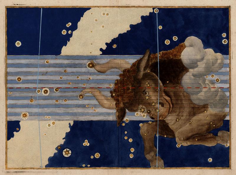 Constellation du Taureau dans l'atlas de Bayer (1603)