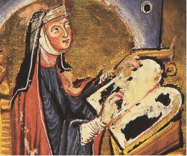 Portrait d'Hildegarde de Bingen.