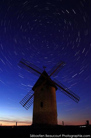 Filé d'étoiles et moulin de Villers-Cotterêts