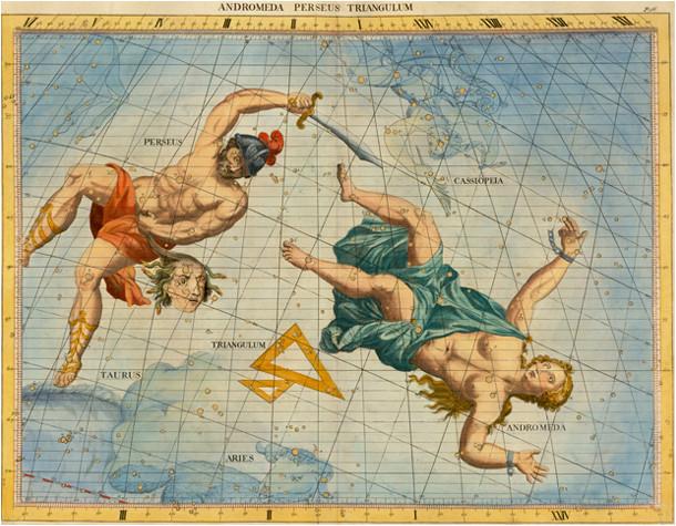 Persée et Andromède dans l'atlas de Flamsteed