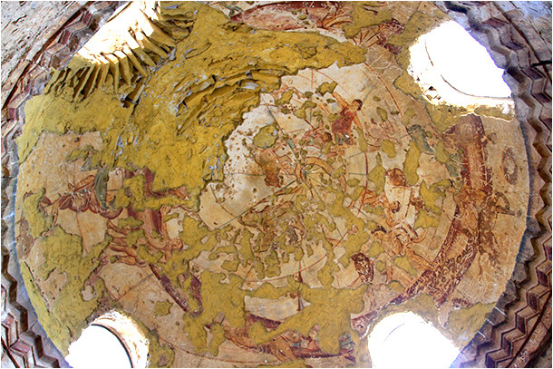 Constellations peintes sur la coupole du Qusayr Amra.