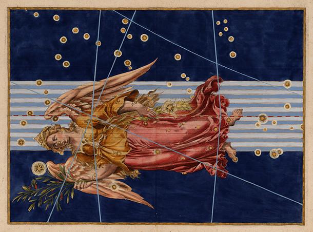 Constellation de la Vierge dans l'atlas de Bayer (1603)
