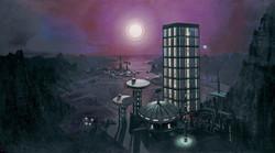 Star Trek The Original Series Courtmartial Albert Whitlock Stabase 11 matte painting