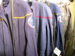 Dressing room: uniform on the rack.