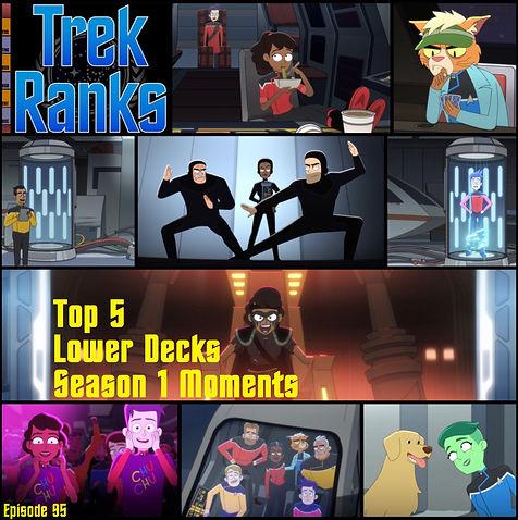 TrekRanks Episode 95 - Top 5 Lower Decks