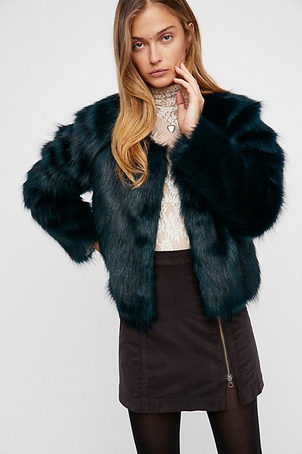 Free People Frankie Fur Coat