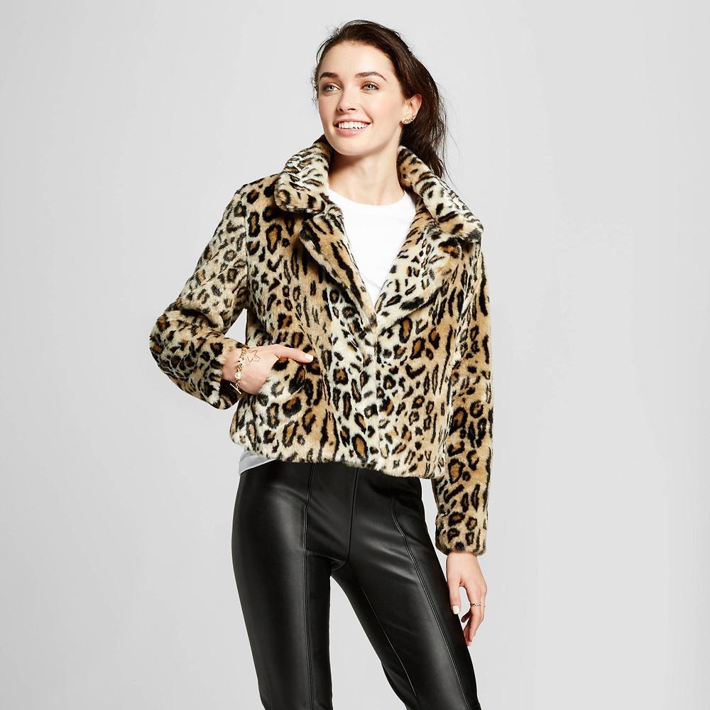 Who What Wear Leopard Print Coat