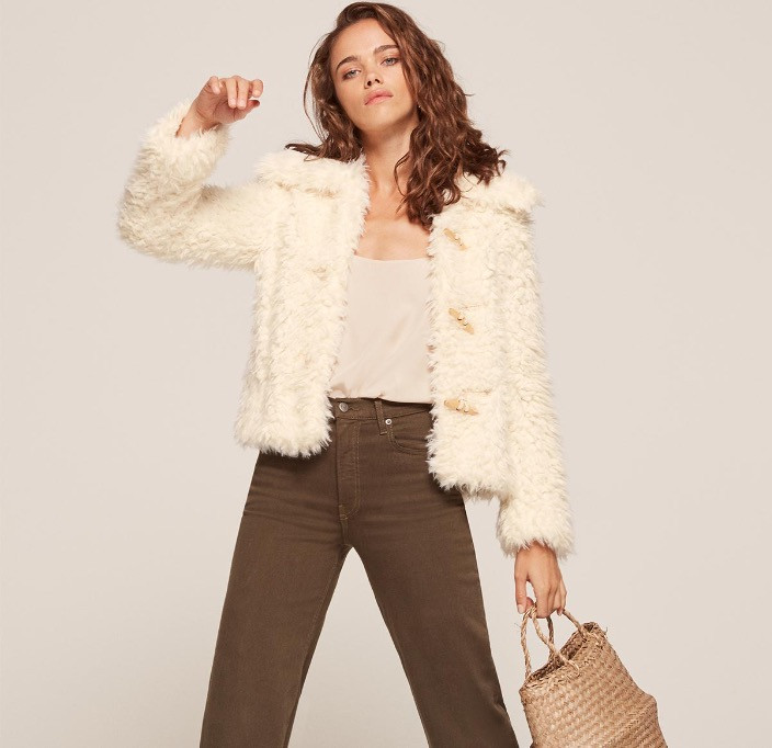 The Reformation Teddy Coat