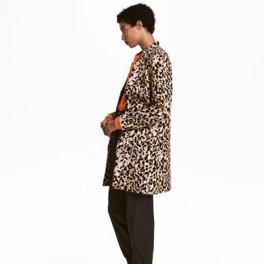 H&M Leopard Print Coat