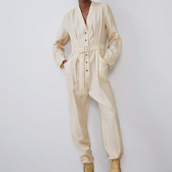 Zara Long Belted Jumpsuit