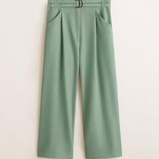 Mango Belt Straight Fit Trousers
