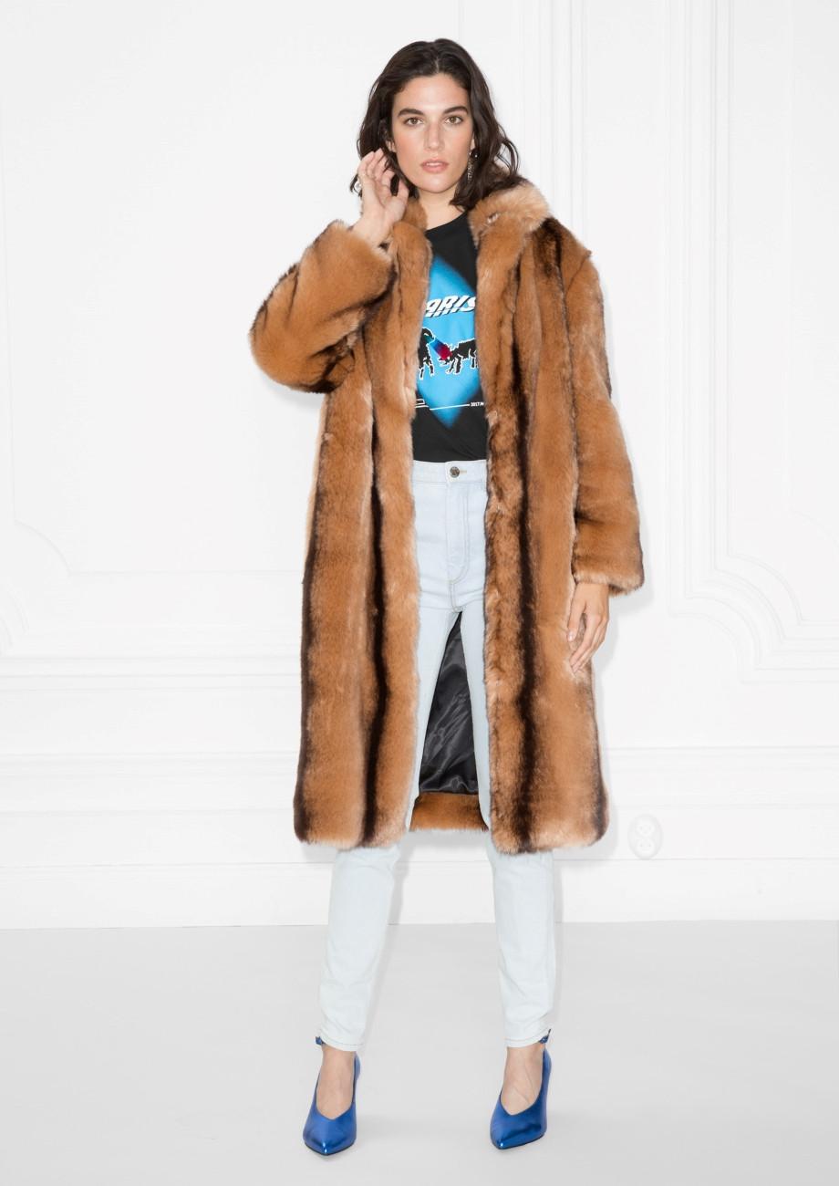 & Other Stories Faux Fur Coat