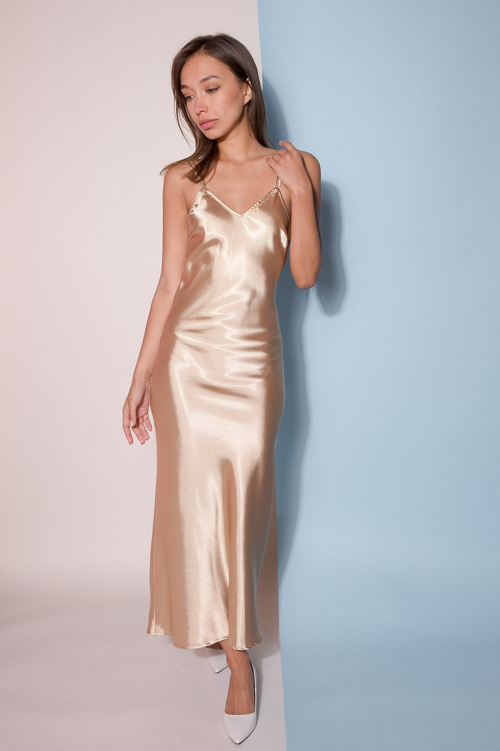 Alysia Gold Dress