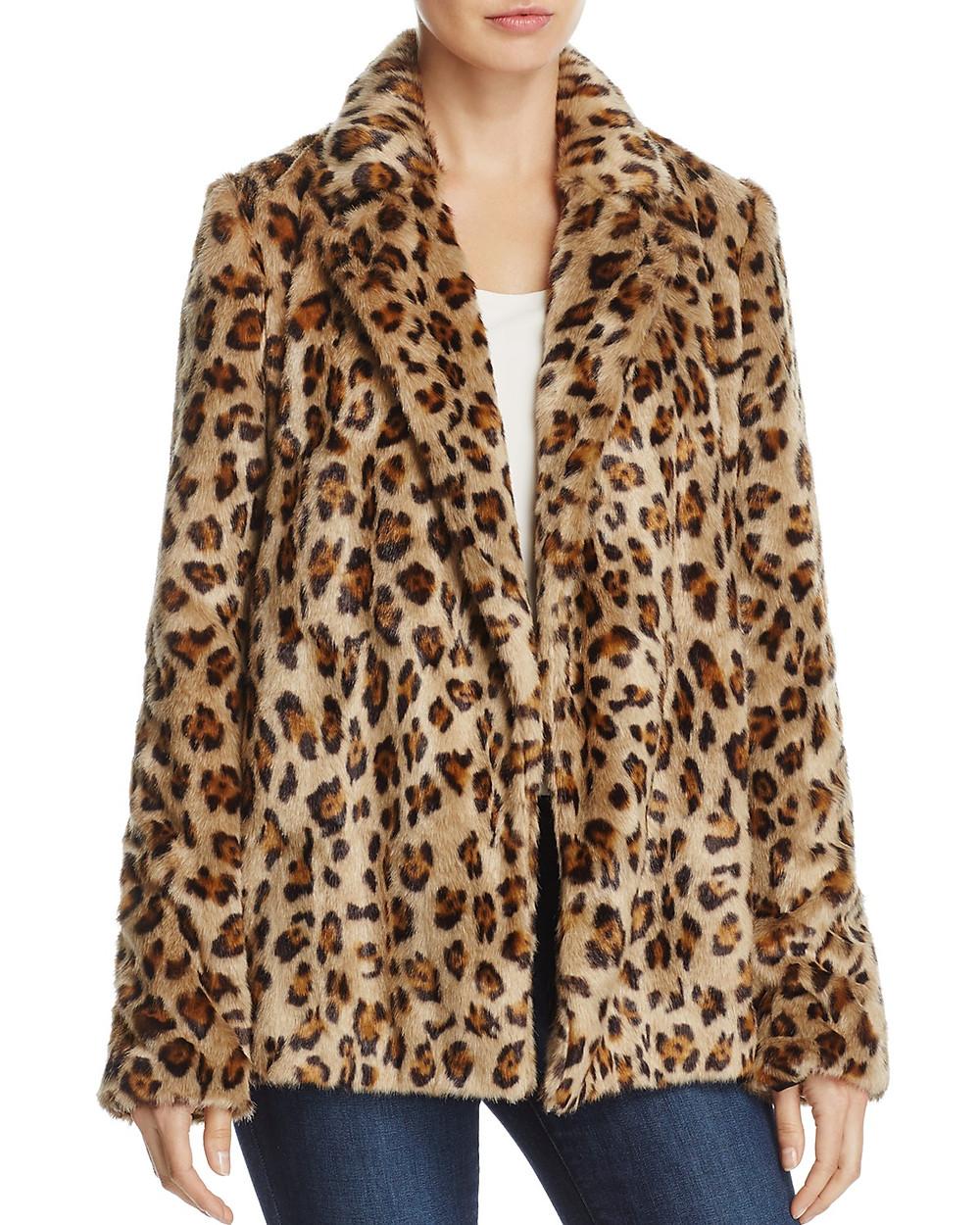 Theory Clairene Leopard Print Coat