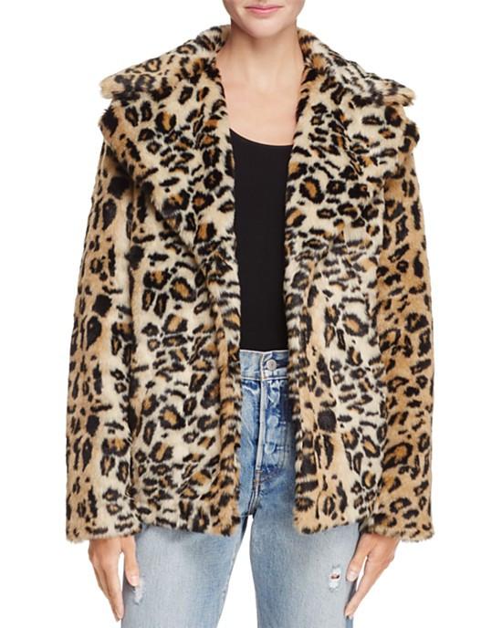 Aqua Leopard Print Coat