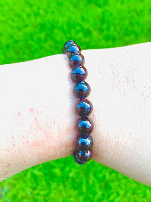 Natural Garnet Stretch Bracelet