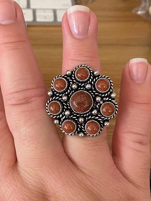 Sunstone Ring (Size 8)