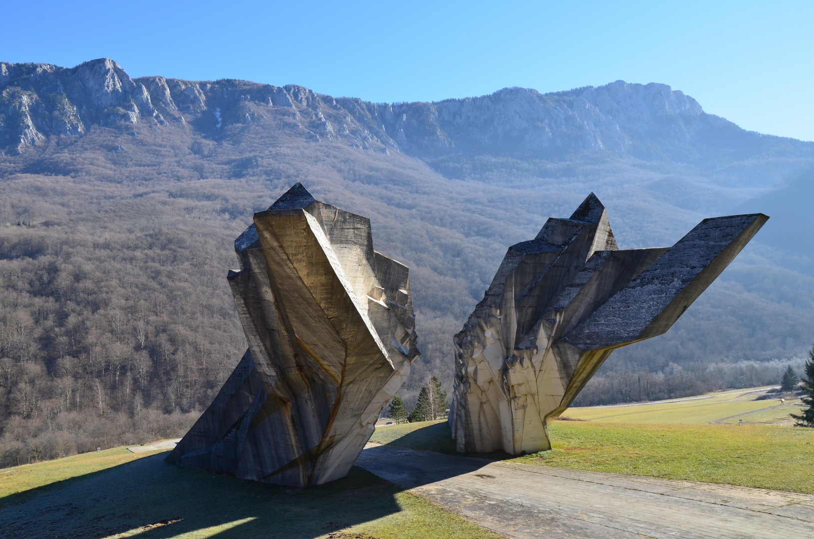Miodrag Živković, Monument to the Battle of Sutjeska, 1964-1971. Valley of Heroes, Tjentište, Bosnia and Herzegovina.