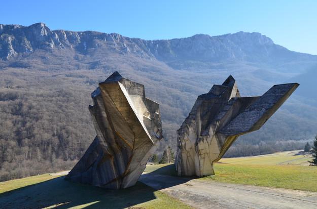 Miodrag Živković, Monument to the Battle of Sutjeska, 1964-1971. Valley of Heroes, Tjentište, Bosnia and Herzegovina.