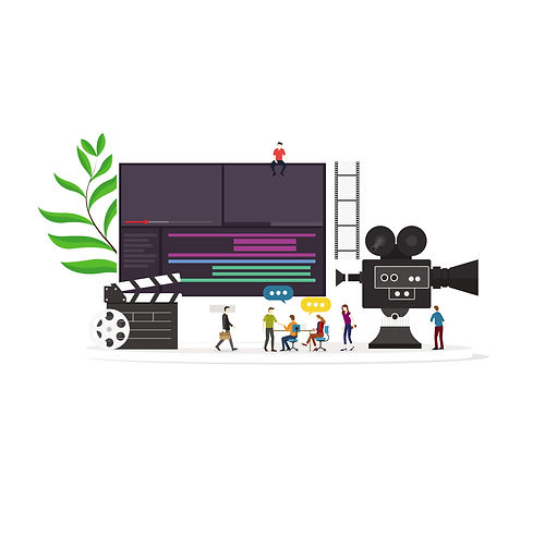 Film-video-production-concept-with-flat-