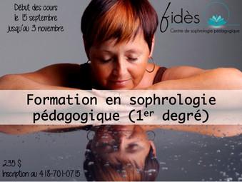 Évènement ! Formation de sophrologie à Québec