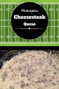 This fresh new spin on the classic Philadelphia Cheesesteak combines all of your favorite cheesesteak flavors in an ooey, gooey, cheesy queso dip perfect for football!