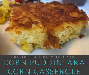 This quick and easy Corn Casserole is the BEST!  It is so delicious that it is the only recipe you'll ever need!  This dish is perfect for barbecues and often served for holiday meals here in the south.