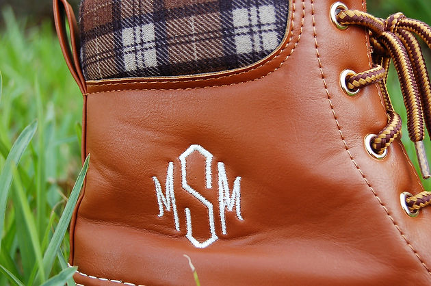 fe7f2f990a9e7 Monogrammed Duck Boots