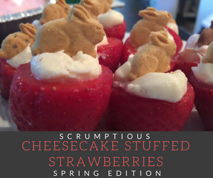 Juicy in-season strawberries and scrumptious cheesecake filling come together to create a light dessert perfect for spring!