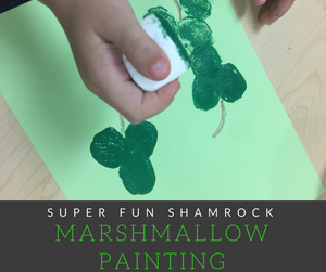 Use marshmallows to create these super fun shamrocks in honor of St. Patty's Day!