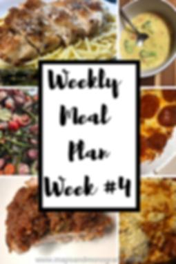 Weekly Meal Plan Menu