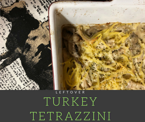 Delicious and easy to make turkey tetrazzini made from leftover turkey