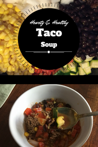 This hearty and healthy, low carb,  gluten-free soup uses the ground meat of your choice along with tons of vegetables and pantry items.  You'll feel skinnier just eating it!