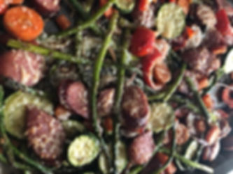Healthy One Pan Italian Veggies and Sausage