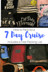 Packing for a cruise is an art form.  Learn all of my tips, tricks and techniques to fitting an entire weeks worth of stuff into a medium-size suitcase.
