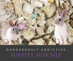 Hippity Hop Mix is a fun holiday treat perfect for the whole family.  It's sweet and crunchy and dangerously addictive!