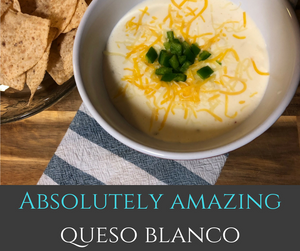 You won't believe how easy this wonderful queso blanco dip is!  It is deliciously creamy and oh so cheesy!  This recipe is perfect for Taco Tuesdays, Cinco de Mayo and parties alike!