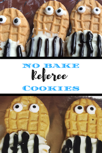 Have you ever wanted to bite a referee's head off?  Well now you can!  These delicious, easy-to-make Referee Cookies are perfect for the big game!