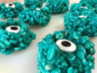 Monster Eyeball Rice Krispie Treats