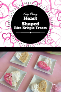 What kid wouldn't love opening up their lunch box to discover these delicious heart-shaped Rice Krispie Treat?  Put a smile on your little one's face with this quick and easy Valentine's treat!