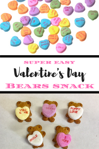 Are you looking for a kid-friendly Valentine's Day snack?  These Valentine's Day Bears are super easy to make and are sure to be a hit with your little one!
