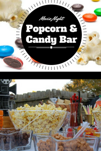 Movie Night Popcorn & Candy Bar