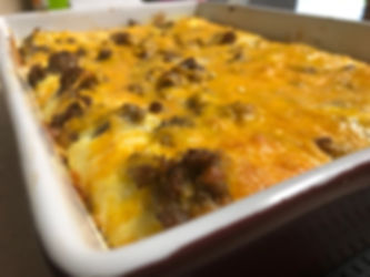 Sausage Cheese & Hash Brown Casserole