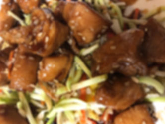 teriyaki chicken with broccol slaw