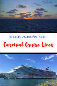 Are you heading out on a Carnival cruise?  Check out these ABC's of Carnival Cruise Lines.  A quick and easy, alphabetical guide to the ins and outs of cruising.