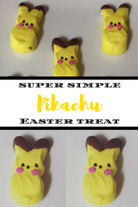 Turn everyone's favorite marshmallow Easter treat into everyone's favorite Pokemon characater in 3 simple steps!