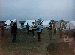 Pipe Band at Camp